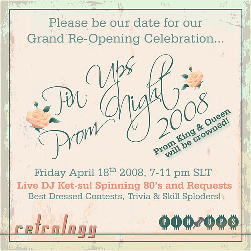 PIN UPS Grand Re-Opening Prom Invite!