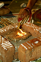 Holy Fire (Scribblings of Light) Tags: light fire marudhani camphor upanayanam