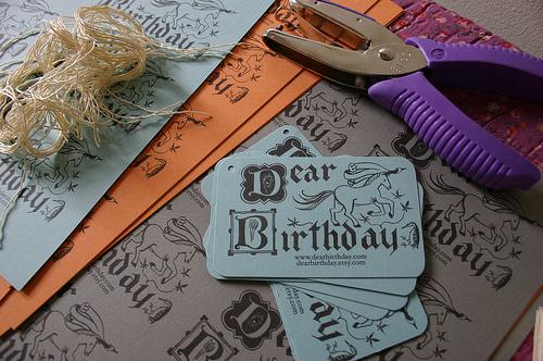 hangtags, dear birthday