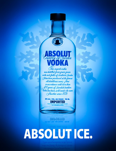 ABSOLUT ICE.