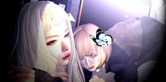 """A Blue Butterfly"" (Eripom^^) Tags: secondlife second life 2nd beauty butterfly tram gizza 6doo blue catya catwa mix kiiko insol girl shape dream illusion virtual portrait sofa bento"