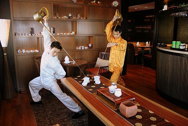 Acrobatic tea-making skills! Leet kung fu!