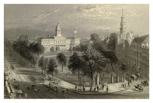 003-El parque y el City Hall- New York 1840
