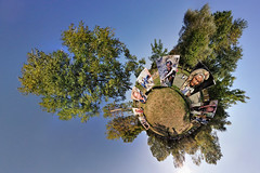 Planète Barrobjectif (AlpixImages) Tags: trees panorama france festival nikon photographie fisheye tokina ciel arbres projection sphere planet stitching barro charente 360° d300 stereographic planète poitoucharentes 1017mm littleplanet nodalninja francelandscapes barrobjectif