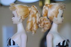 #3 Ponytail (bellasdolls) Tags: vintagebarbie matteltoys vintageponytail bellasdolls boiledperm metalcurlers blond3ponytailbarbie