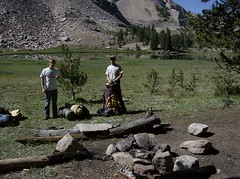 28 Campsite at born (philthy54) Tags: cloud white mountains fishing hiking idaho