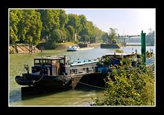 Pniche arrivant  l'cluse (jean rachez's photos) Tags: pont pniche marne maisonsalfort