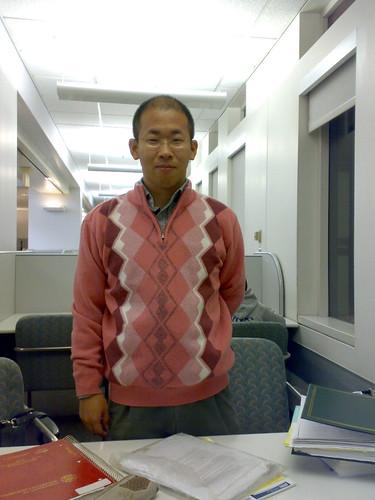 打扮成粉紅豹的韓國同學