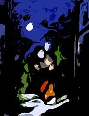Altered Moonlight (Ali Johnson (Photography)) Tags: blue moon black love night couple angels moonlight artlibre alijohnsoncom