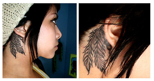 Tattoo - Behind ear by Tangerinetofu