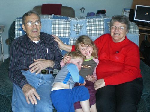 Grandpa, Grandma and the kids