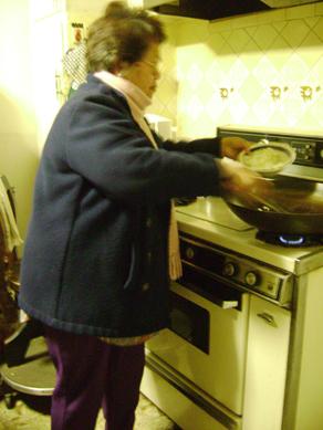 mom cooks lumpia