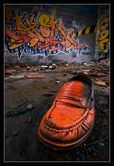 Crazy Mocassin (gilles chiroleu) Tags: abandoned underground graffiti crazy shoes factory tag graf ground explore usine abandonn chaussure mocassin friche frontignan gensdusud chiroleu