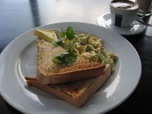 Green Eggs and Toast (green curry paste)