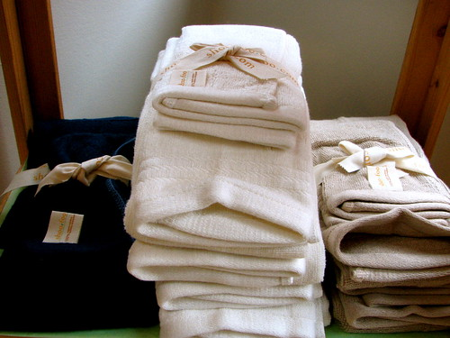 Luxurious organic cotton towels await you at many eco-friendly bed & breakfasts