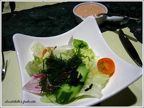 國賓飯店阿眉快餐廳套餐沙拉