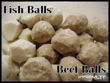 Combination Fish Balls Vs Beef Balls