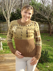 Sweater with Patches (irynton) Tags: brown sweater clothing knitting patchwork apparel