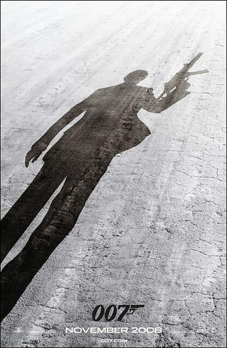 Teaser poster de 'Quantum of Solace', la continuación de 'Casino Royale'