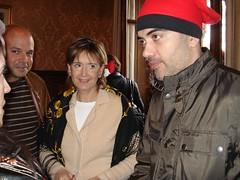 """Daniel Sirera i Dolors Nadal assisteixen a la """"batalla de carmels"""" de Vilanova"""