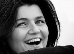 Laughing Out Loud (ACPinho) Tags: winter friends light portrait people blackandwhite bw woman white black portugal girl fun nikon bravo europe february soe estoril d80 nikonstunninggallery pffg lightblue2006
