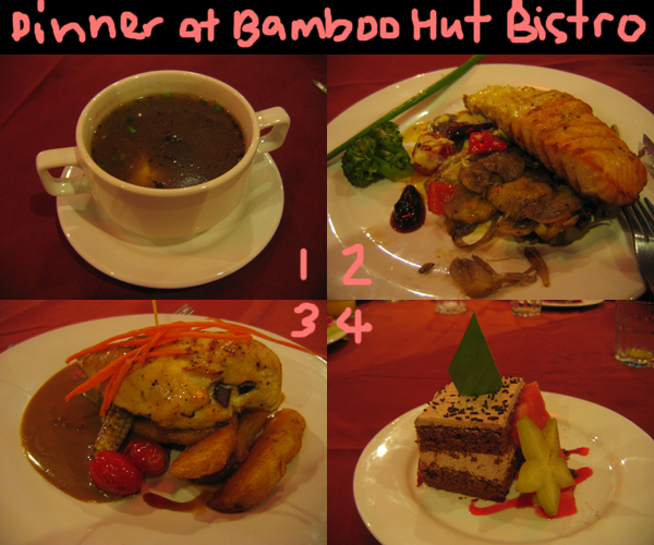 malacca. dinner at bamboo hut bistro