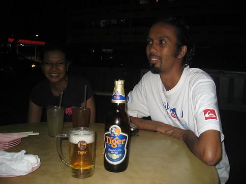 Ian and Waffa (and my Tiger beer!)