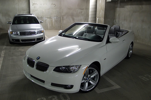 Bmw 335i White. mw 335i beating audi s4 avant