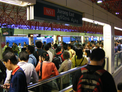 Crowded MRT station
