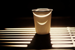 Smile and everything smile back at you (kktp_) Tags: light cup smile thailand nikon shadows dof bangkok plasticcup 50mmf14d d80 anawesomeshot