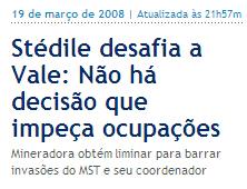 Globo Online MST Stédile