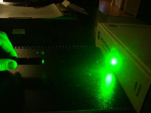 Green Laser Pointer in action