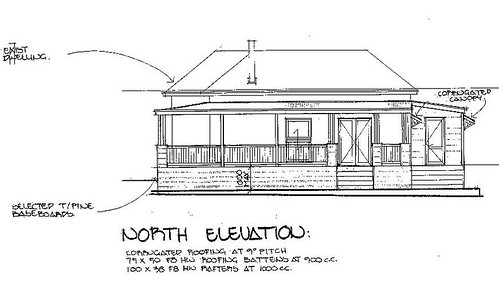 Cottage - North elevation