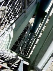 i am no longer here - spiral staircase I (hsalnat) Tags: building architecture singapore stairway sit hdb demolished oldbuilding spiralstaircase publichousing vinatge newbridgeroad singaporeimprovementtrust upperpickeringstreet upperhockienstreet