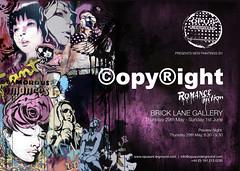 romance fiction (opyight) Tags: fiction copyright streetart brick london art exhibition romance lane