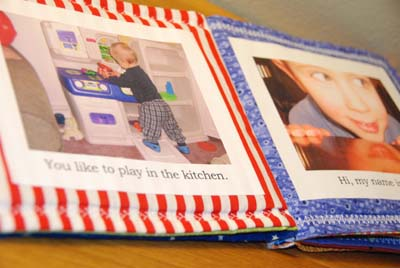 inside cloth birthday book