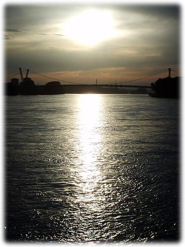 Sunset at Hafen Wien Lobau