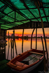 The boat #explore# (martintimmann) Tags: sundown italy venice boat reflection