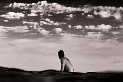 Surfer waiting for a wave (keiranq) Tags: surfer wave beach maroubra surf surfing sunset