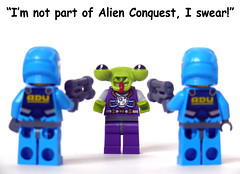 This Is Not the Alien You're Looking For (Oky - Space Ranger) Tags: funny lego collectable minifigures