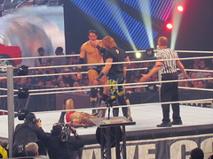 CORE does a beatdown on ezekiel jackson (bballchico) Tags: seattle wwe keyarena thecore wadebarrett overthelimit ezekieljackson