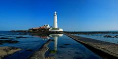 St Mary's Island (_pauls) Tags: lighthouse beach seaside rocks causeway whitleybay stmarysisland stitchedpanorama