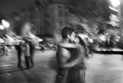Baiser (Romann Ramshorn) Tags: bw blur love film analog nikon election kiss bordeaux nb sw coolscan sb sarkozy flou argentique ilfordpan400