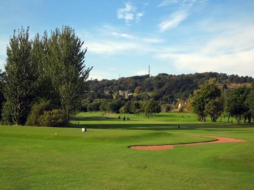 Toward the 10th hole at Carrick Knowe golf course, Edinburgh