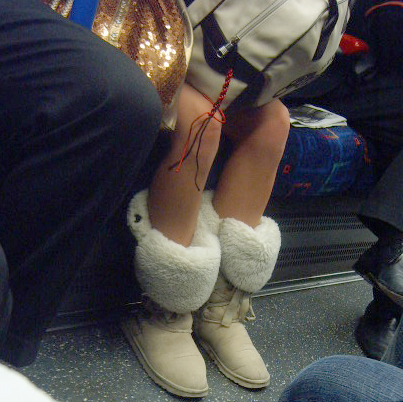 Winter Uggs with micro skirt
