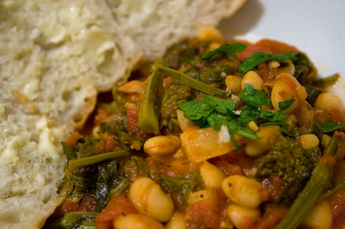 Rapini with Cannellini Beans & Tomatoes