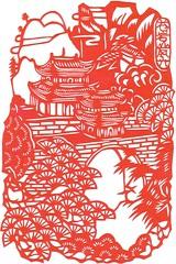 Papercut double pagoda