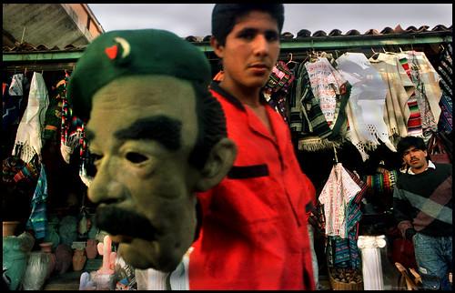 saddam mask 1992, tijuana