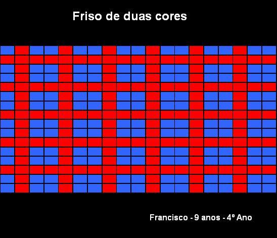 Frisos de 2 cores Francisco
