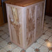 Curly Maple Island with Bookmatched Natural Maple Panels and Reclaimed Maple Butcher Block